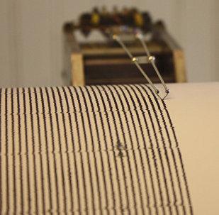 Аппарат сейсмограф. Архивное фото