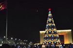 Красота на площади. Трансляция церемонии зажжения главной елки Кыргызстана