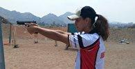 Чемпионка мира по тайскому боксу Антонина Шевченко на Кубке Перу по оборонной стрельбе из боевого пистолета