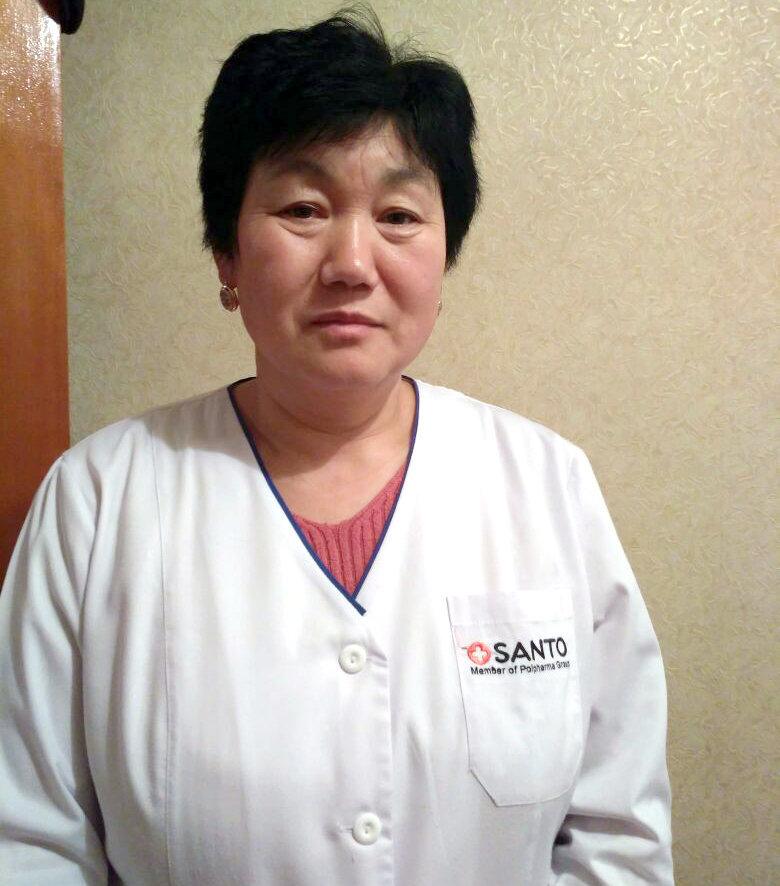 Врач-педиатр Айнура Аманбаева