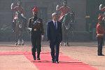 Атамбаева в Индии приветствовали пушечным залпом и гимном Кыргызстана