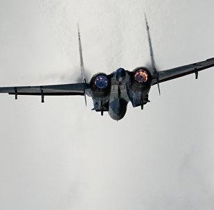 Су-27 аскер учагы машыгуу учурунда. Архив