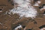 Снег в пустыне Сахара, спутниковый снимок с космоса