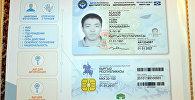 Биометрикалык паспорттун эскизи