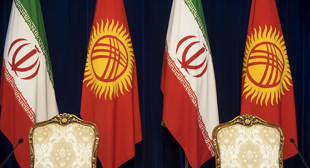Флаги стран Кыргызстана и Ирана. Архивное фото