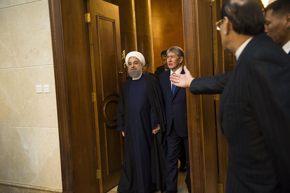 Иран президенти Хасан Роухани 22-декабрь күнү Кыргызстанга расмий иш сапары менен келди