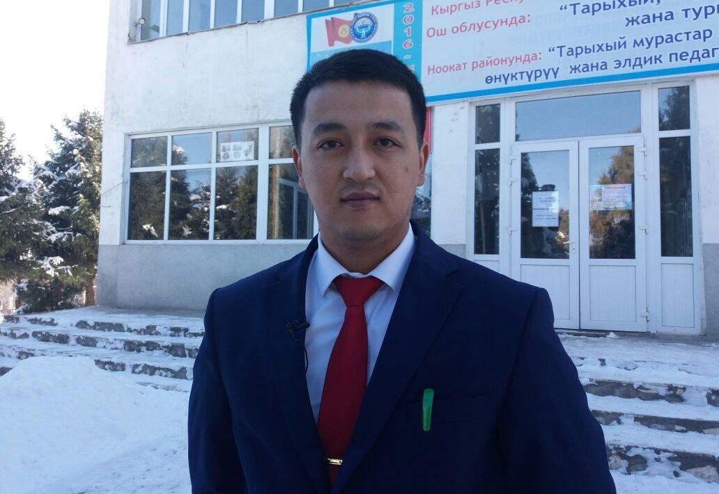 Айыл окмоту села Кыргыз-Ата Ноокатского района Бакытбек Марипов