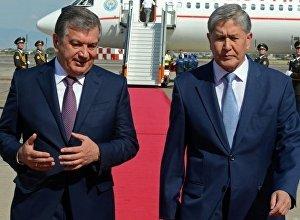 Кыргызстандын президенти Алмазбек Атамбаев Өзбекстанга расмий иш сапары учурунда. Архив