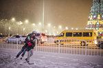 Бишкекте кар жааганда. Архивдик сүрөт