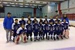 Юные хоккеисты из Кыргызстана на международном турнире в Казахстане