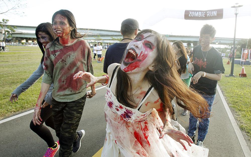 Тайвандагы зомбилер жарышынын катышуучулары
