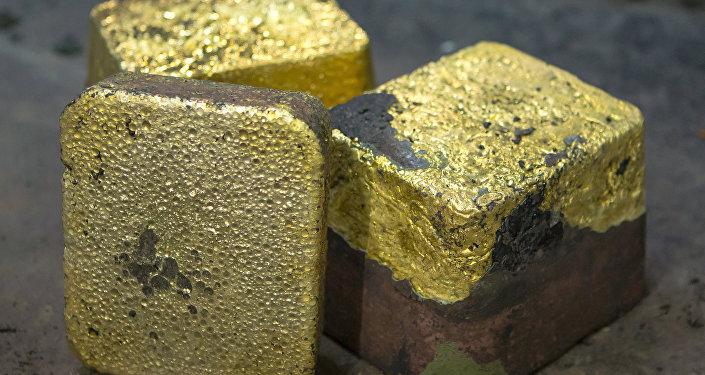 Доре — 85 пайыздуу алтын эритмеси. Архив