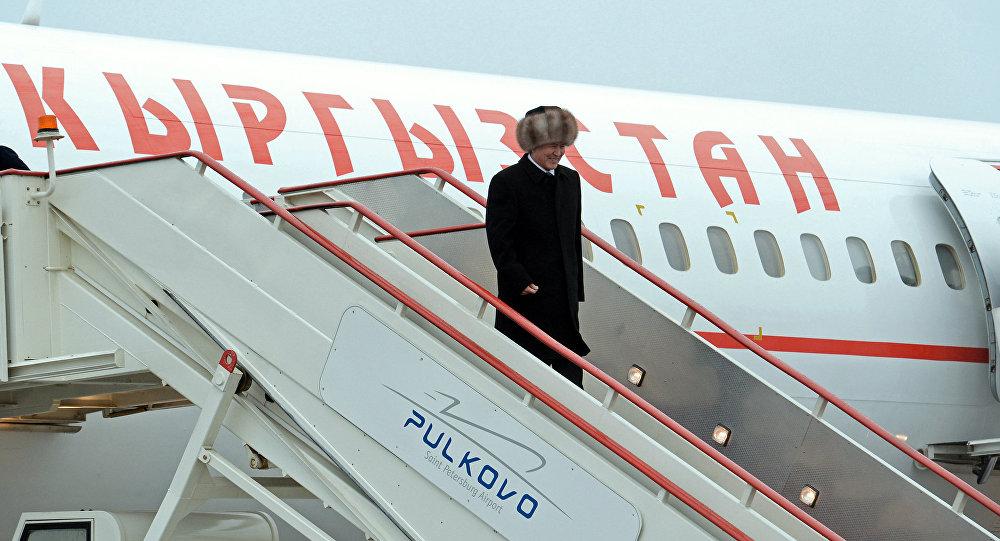 Президент Алмазбек Атамбаев прибыл с рабочей поездкой в  город Санкт-Петербург. Архивное фото