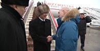 Алмазбек Атамбаевди Санкт-Петербург жаан менен тосуп алды