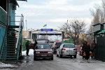 Кыргыз-казак чек арасындагы Кең-Булуң  өткөрүү пункту. Архивдик сүрөт