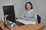 Исполняющая обязанности пресс-секретаря Министерства здравоохранения Жылдыз Айгерчинова