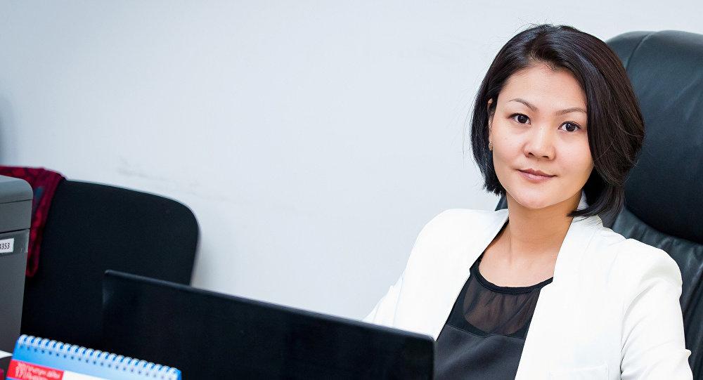 Архивное фото руководителя пресс-службы ОАО Национальная электрическая сеть Кыргызстана Эльзады Саргашкаевой