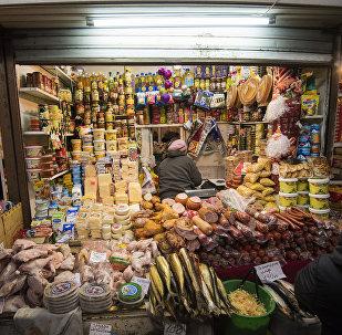 Продажа продуктов питания на рынке