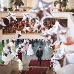 Президентская новогодняя елка с участием Алмазбека Атамбаева в Бишкеке