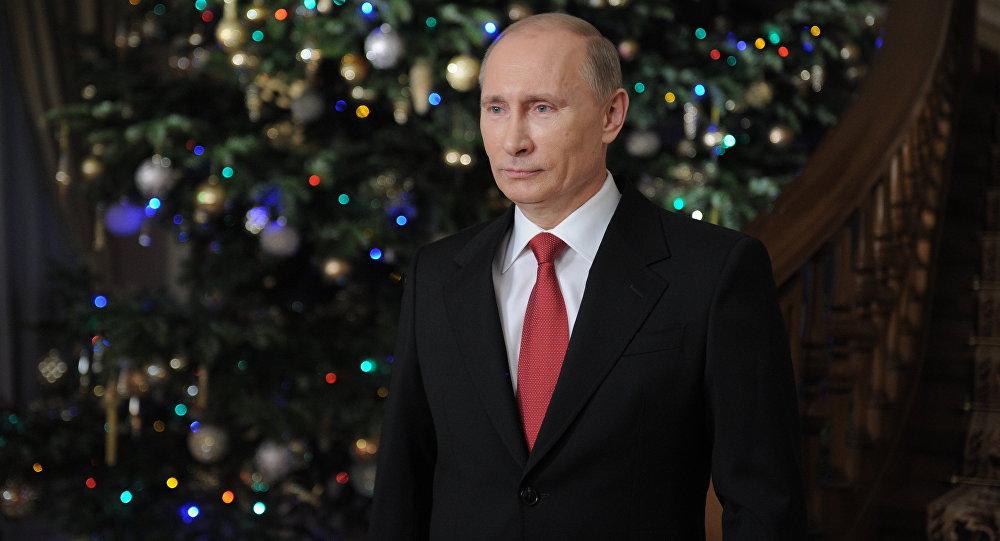 Как путин поздравил с новым годом