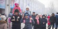 Праздничные мероприятия и народные гуляния на площади Ала-Тоо. Архивное фото