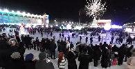 Новогодний салют в Бишкеке — панорамное видео 360. Крутите камеру, как хотите