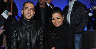 Архивное фото певицы Джанет Джексон с мужем Висамом Аль-Мана