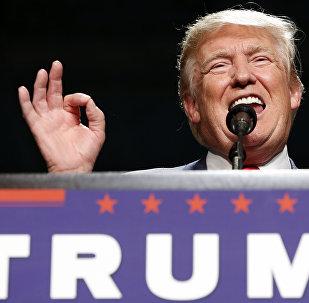 Кандидат в президенты США республиканец Дональд Трамп