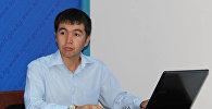 Жаштар иши, дене тарбия жана спорт мамлекеттик агенттигинин маалымат катчысы Нурдин Султамбаевдин архивдик сүрөтү