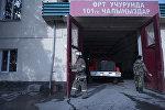 Сотрудники пожарной службы МЧС Кыргызстана. Архивное фото