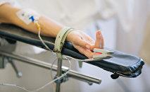Пациентка в больнице. Архивное фото