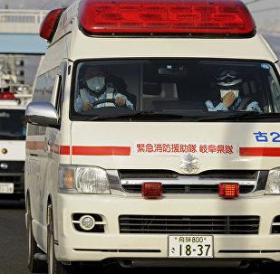 Япониядагы тез жардам автоунаасы. Архивдик сүрөт
