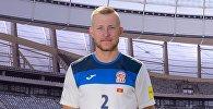 Защитник сборной Кыргызстана Валерий Кичин, который играет в российском Енисее