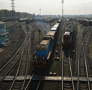 Грузовые поезда. Архивное фото
