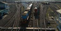 Грузовые поезда на сортировочной станции. Архивное фото
