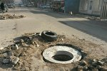 Бишкекасфальтсервис ишканасы тарабынан Скрябин көчөсүндөгү эскирген жол белгилер алмаштырылууда