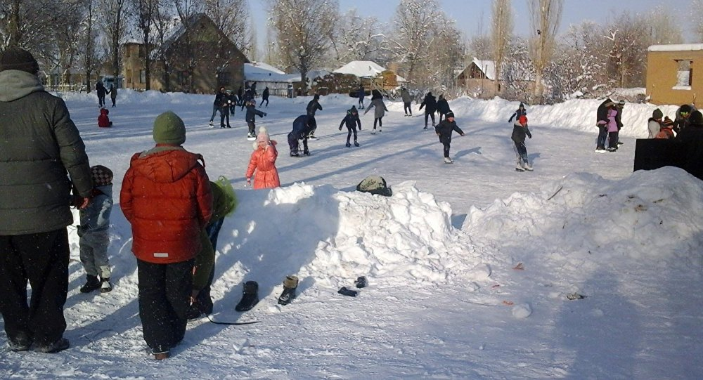 Ак-Талаа районуна караштуу Баетов айылындагы жалгыз муз аянтчасы