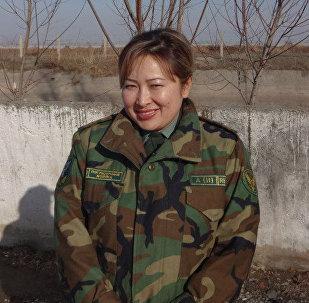 Архивное фото начальника управления информационного обеспечения ГПС КР подполковник Гульмиры Борубаевой