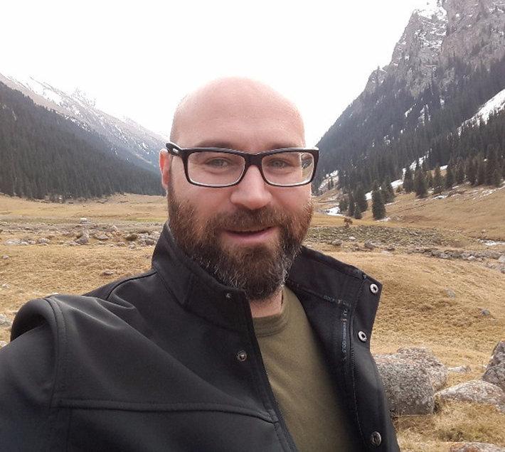 Турист из Израиля Алекс Суф в Кыргызстане