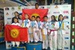 Казакстанда өткөн таэквондо чемпионатына катышкан кыргыз спортчулары