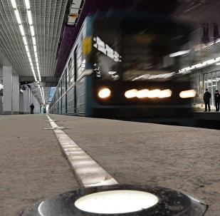 Поезд в метро. Архивное фото