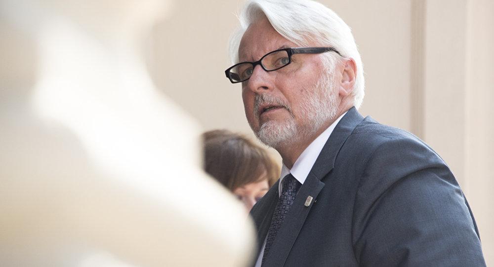 Архивное фото главы МИД Польши Витольда Ващиковского