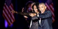 АКШнын Экс-президенти Барак Обама жубайы менен. Архивдик сүрөт