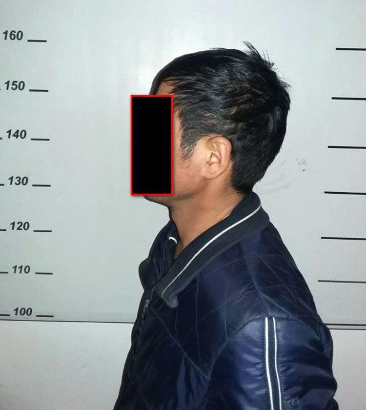 Подозреваемый в угоне автомашины марки DAEWOO Matiz в селе Кызыл-Сенир в наручнике