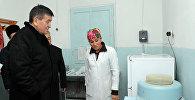Премьер-министр Сооронбай Жээнбеков Баткен облусуна барган иш сапарында Лейлектин диагностика жана экспертиза борборуна барды