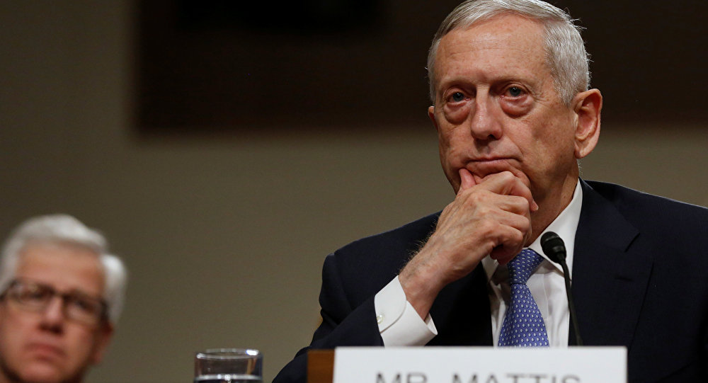 Архивное фото министра обороны США Джеймса Мэттиса