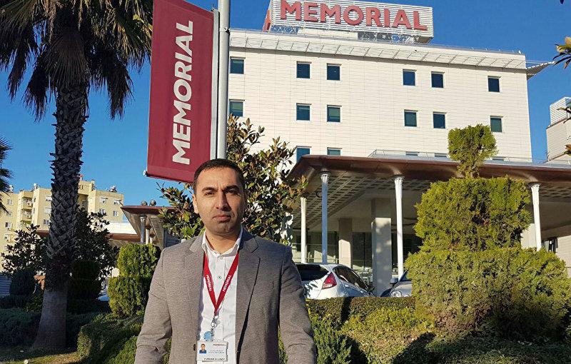 Гражданин Турции Фуркан Улусой, который поспособствовал снижению стоимости операции Азизу Мурадиллаеву в одной из клиник с 95 тысяч до 30 тысяч долларов.