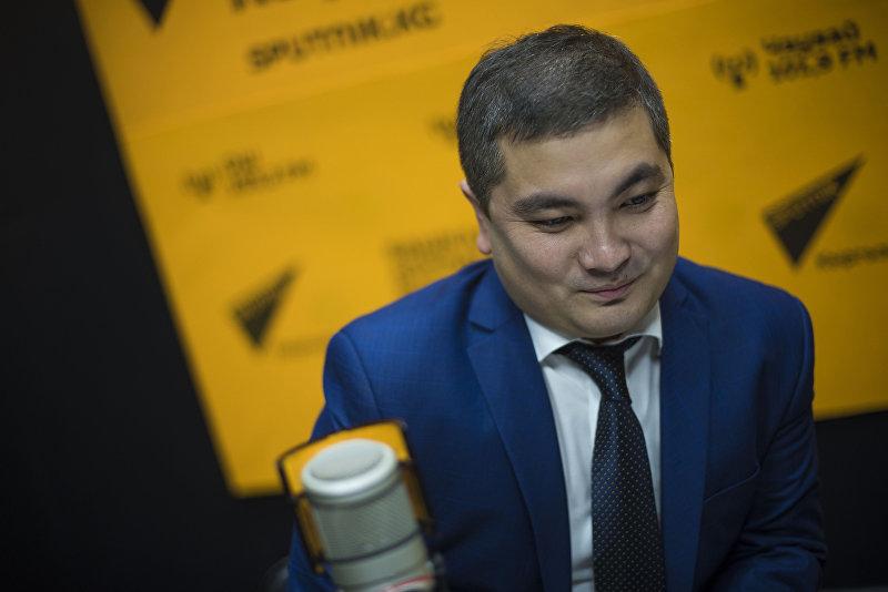Министр юстиции Кыргызской Республики Уран Ахметов во время интервью Sputnik Кыргызстан