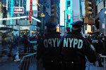 АКШ полиция кызматкери. Архивдик сүрөт