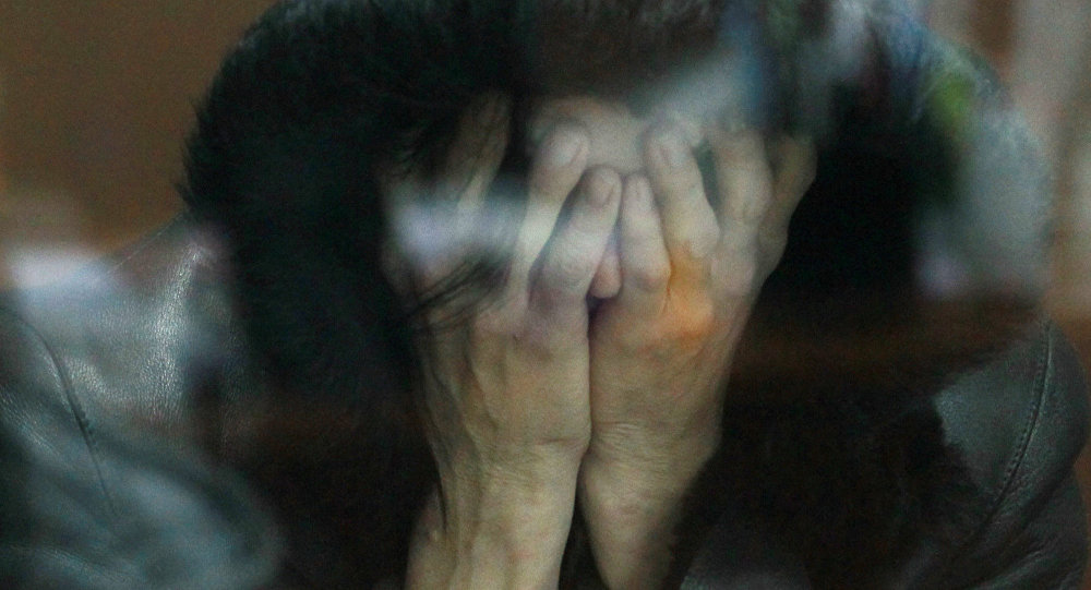 Женщина под арестом. Архивное фото